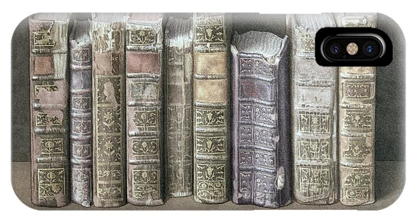 Spines iPhone Case - A Fine Library by Jonathan Wolstenholme