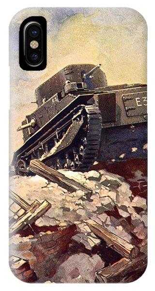 Wwi iPhone Case - A First World War Tank by J. Allen Shuffrey