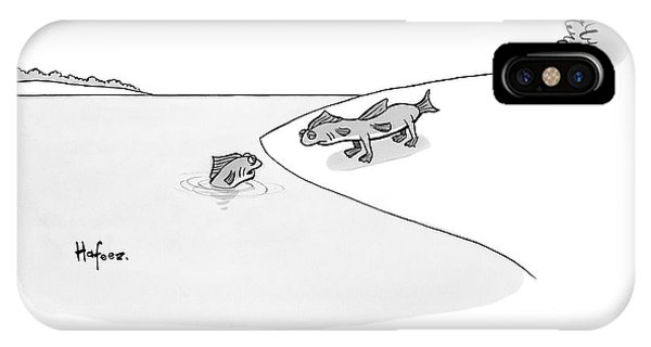 I Love You iPhone Case - A Fish In Water Talks To Another Fish Which by Kaamran Hafeez