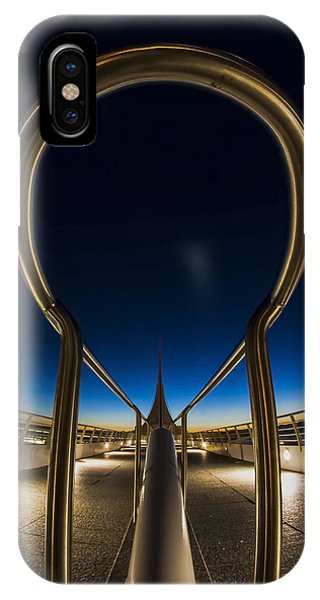 A Fisheye Look At The Ultra-modern Milwaukee Art Museum At Dawn IPhone Case