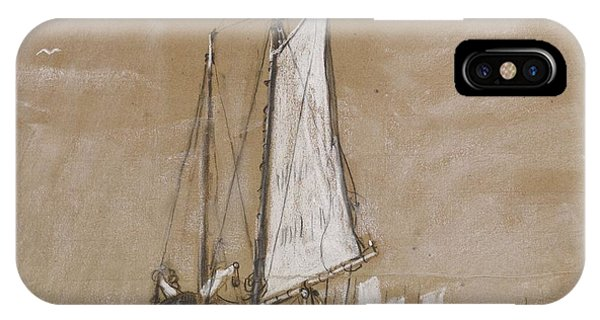 iPhone Case - A Fishing Schooner by