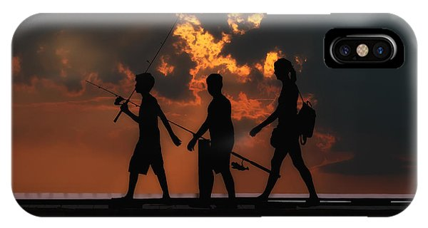 A Fishing We Will Go IPhone Case