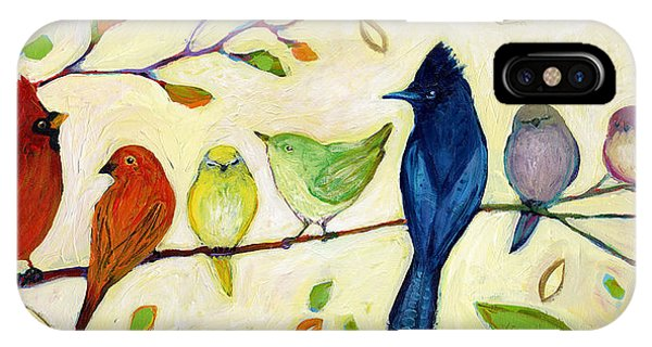 Country iPhone Case - A Flock Of Many Colors by Jennifer Lommers