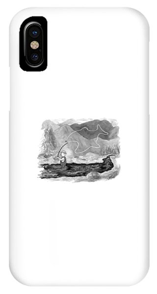 A Fly Fisherman Casts Back A Reel That Forms IPhone Case