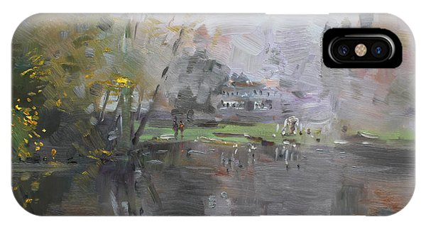 Georgetown iPhone Case - A Foggy Fall Day By The Pond  by Ylli Haruni