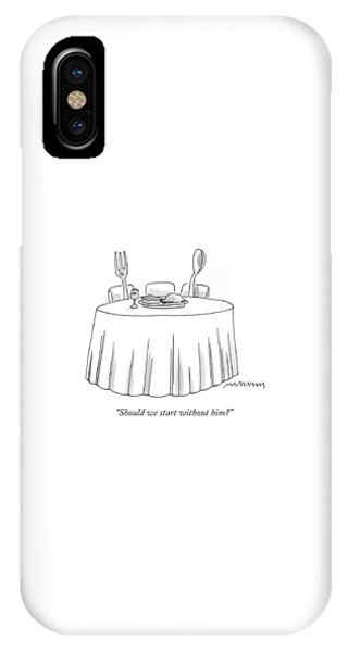 A Fork And A Spoon Sit At A Dinner Table IPhone Case