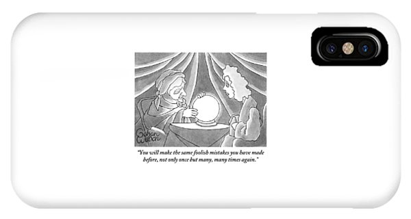 A Fortune Teller Addresses A Woman IPhone Case