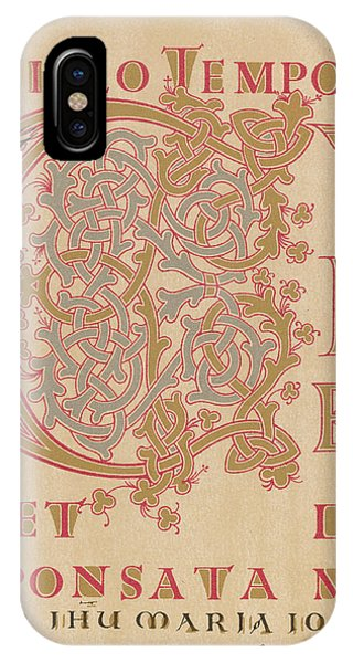 A Fragment Of Sintram's Evangelium Phone Case by Mary Evans Picture Library