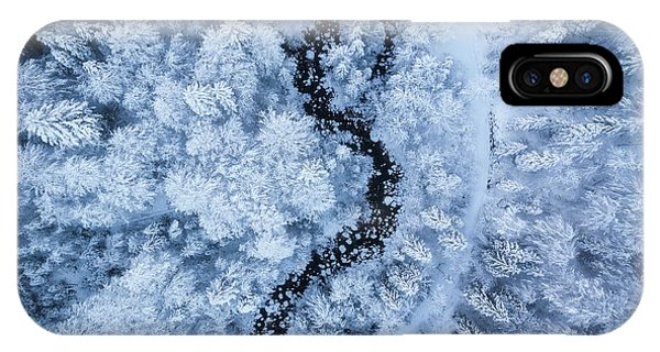 Aerial iPhone Case - A Freezing Cold Beauty by Daniel Fleischhacker