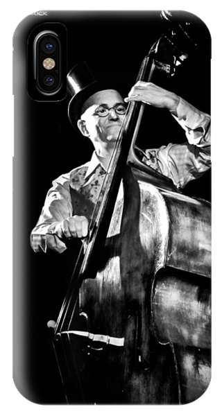 IPhone Case featuring the photograph A French Contrabass Player by Stwayne Keubrick