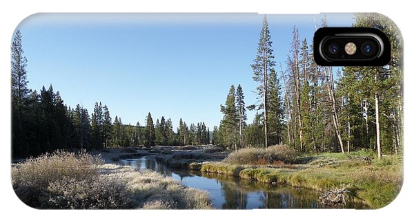 A Frosty Morning Along Obsidian Creek IPhone Case