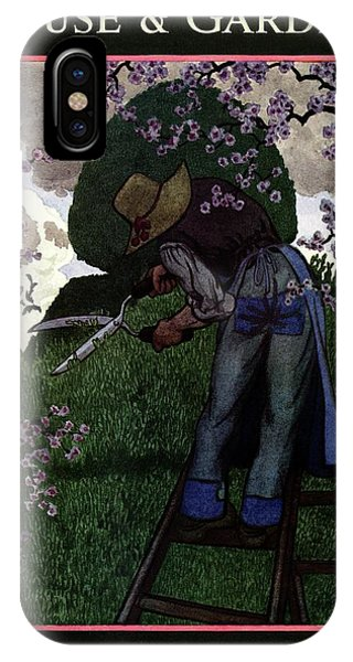 A Gardener Pruning A Tree IPhone Case