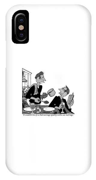 A Gay Man Serves Food To His Partner Who IPhone Case