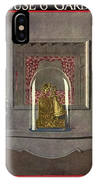 A Gilded Mantle Clock In A Bell Jar IPhone Case