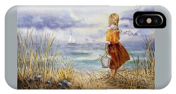 A Girl And The Ocean IPhone Case