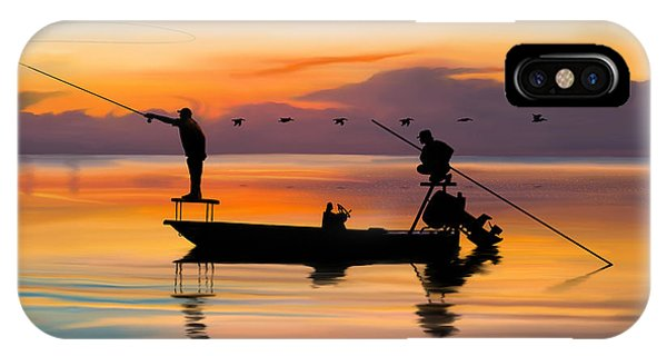 Fishing iPhone Case - A Glorious Day by Kevin Putman
