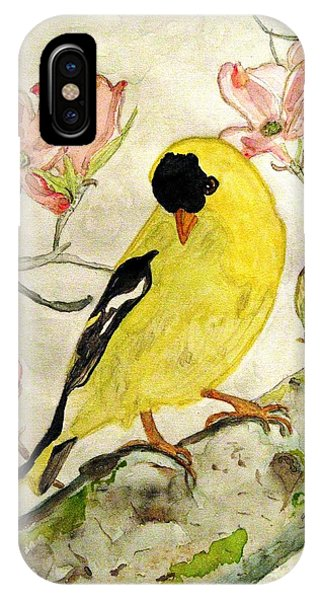 A Goldfinch Spring IPhone Case