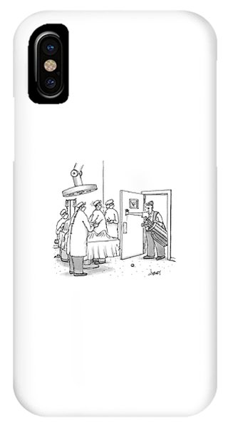 A Golfer Enters An Operating Room Where His Golf IPhone Case