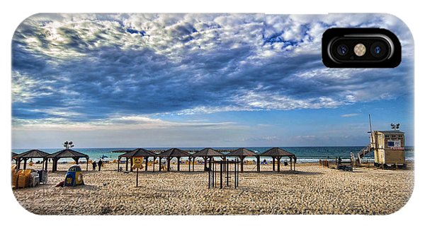 a good morning from Jerusalem beach  IPhone Case