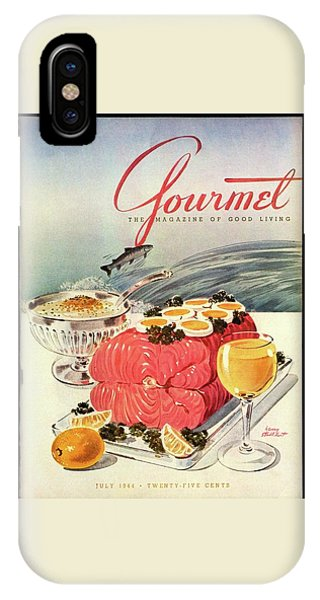 A Gourmet Cover Of Poached Salmon IPhone Case