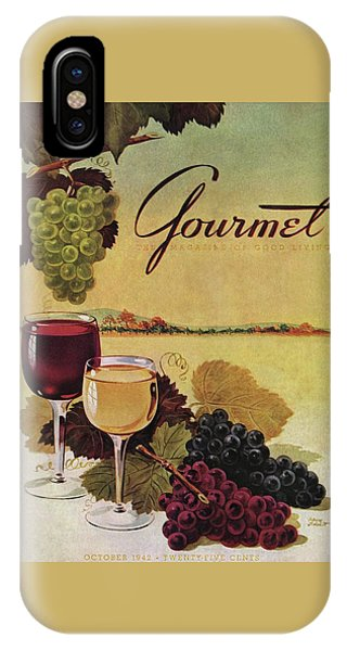 Exterior iPhone Case - A Gourmet Cover Of Wine by Henry Stahlhut