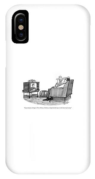 A Grand Jury Sitting In Terre Haute IPhone Case