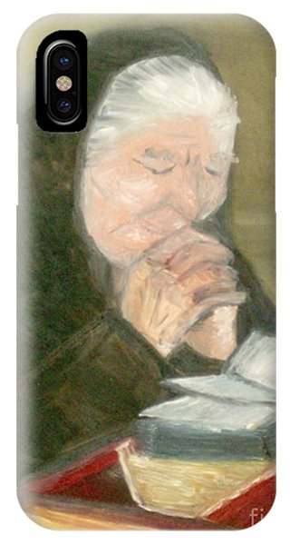 A Grandmother's Prayer IPhone Case