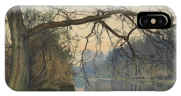 A Great Tree On A Riverbank IPhone Case