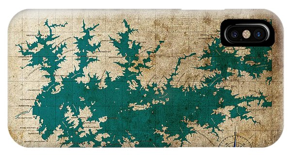 Vintage Map Print Lake Sidney Lanier Georgia IPhone Case