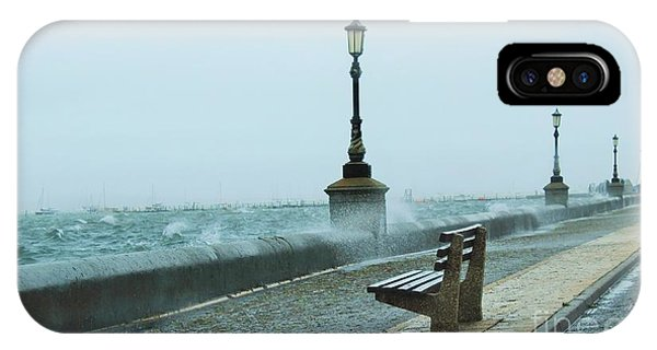 A Grey Wet Day By The Sea IPhone Case