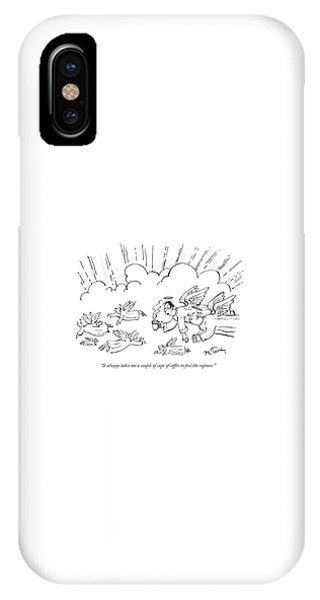 A Group Of Angels Fly In The Clouds.  One IPhone Case