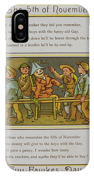 Fireworks iPhone Case - A Group Of Boys With A Guy by British Library