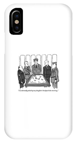 A Group Of Generals Are Seen In The War Room IPhone Case