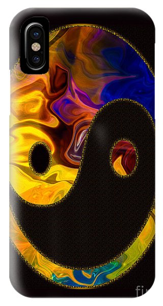 IPhone Case featuring the digital art A Happy Balance Of Energies Abstract Healing Art by Omaste Witkowski