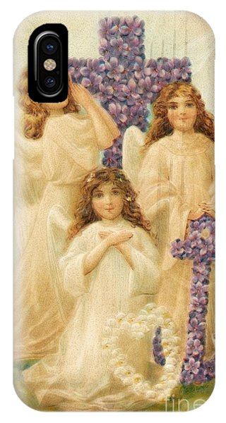 A Happy Easter 1908 German Postcard IPhone Case