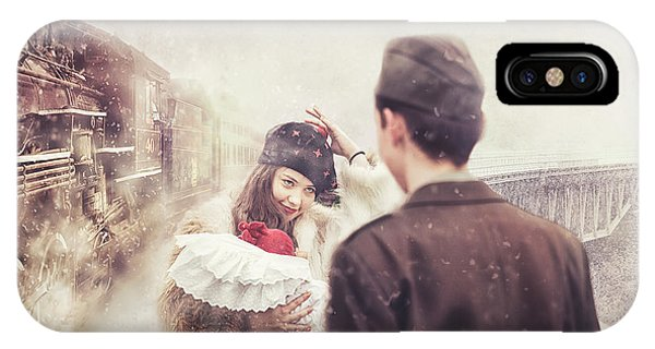 Train Tracks iPhone Case - A Happy Homecoming by Stanislav Hricko