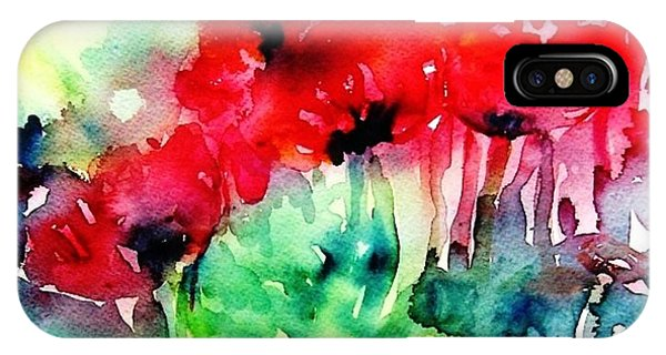 A Haze Of Poppies IPhone Case