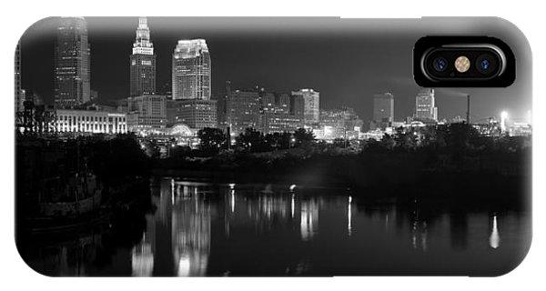 A Hazy Cleveland Night At Progressive Field IPhone Case
