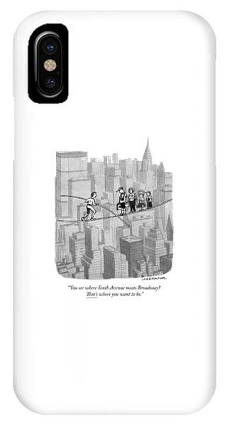 You See Where Sixth Avenue Meets Broadway IPhone Case
