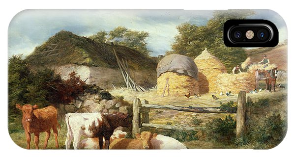 Bucolic iPhone Case - A Highland Croft, 1873 by Peter Graham