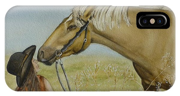 A Horses Gentle Touch IPhone Case