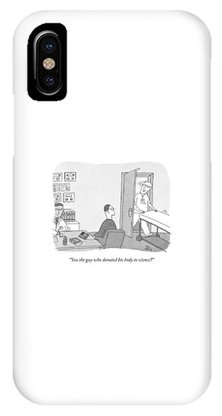A Hospital Orderly Wheels A Morgue Bed IPhone Case