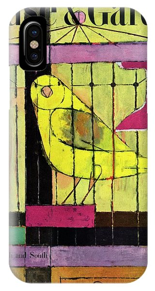 A House And Garden Cover Of A Bird In A Cage IPhone Case