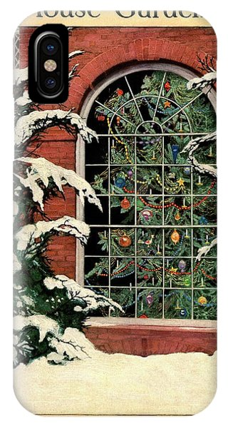A House And Garden Cover Of A Christmas Tree IPhone Case