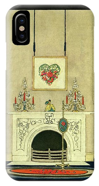 A House And Garden Cover Of A Fireplace IPhone Case