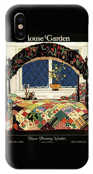 Magazine Cover iPhone Case - A House And Garden Cover Of A Four-poster Bed by Clayton Knight
