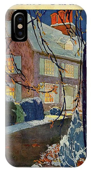 A House And Garden Cover Of A House In Winter IPhone Case