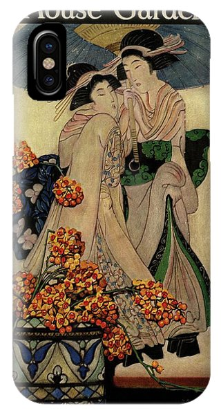 A House And Garden Cover Of A Japanese Print IPhone Case