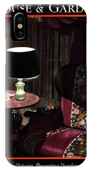 A House And Garden Cover Of A Lamp By An Armchair IPhone Case