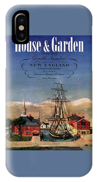 A House And Garden Cover Of A Model Ship IPhone Case